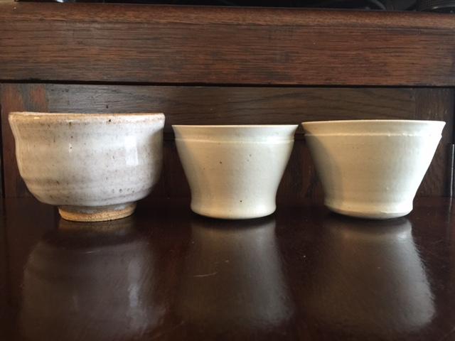 上野抹茶碗と萩見窯湯呑